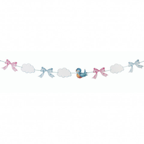 Baby Boy Girl Mädchen Bub Junge Girlande Babyshower party Gratulation Papier paper  garland