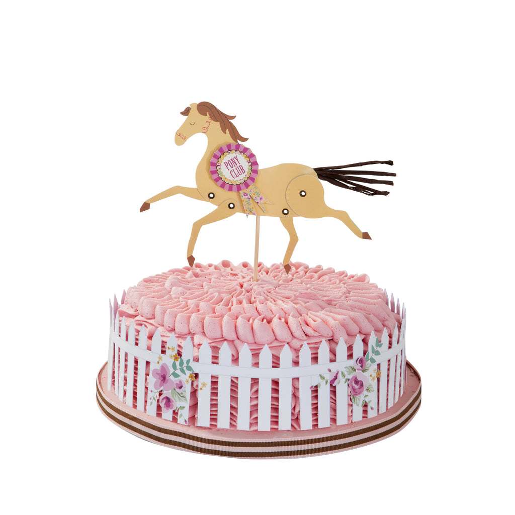 Pony Party Kuchen Topper und Wrap