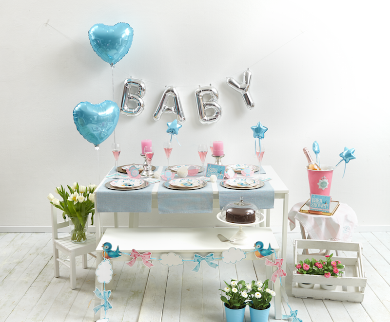 Boy baby shower party pack balloneria for Dekoration babyparty