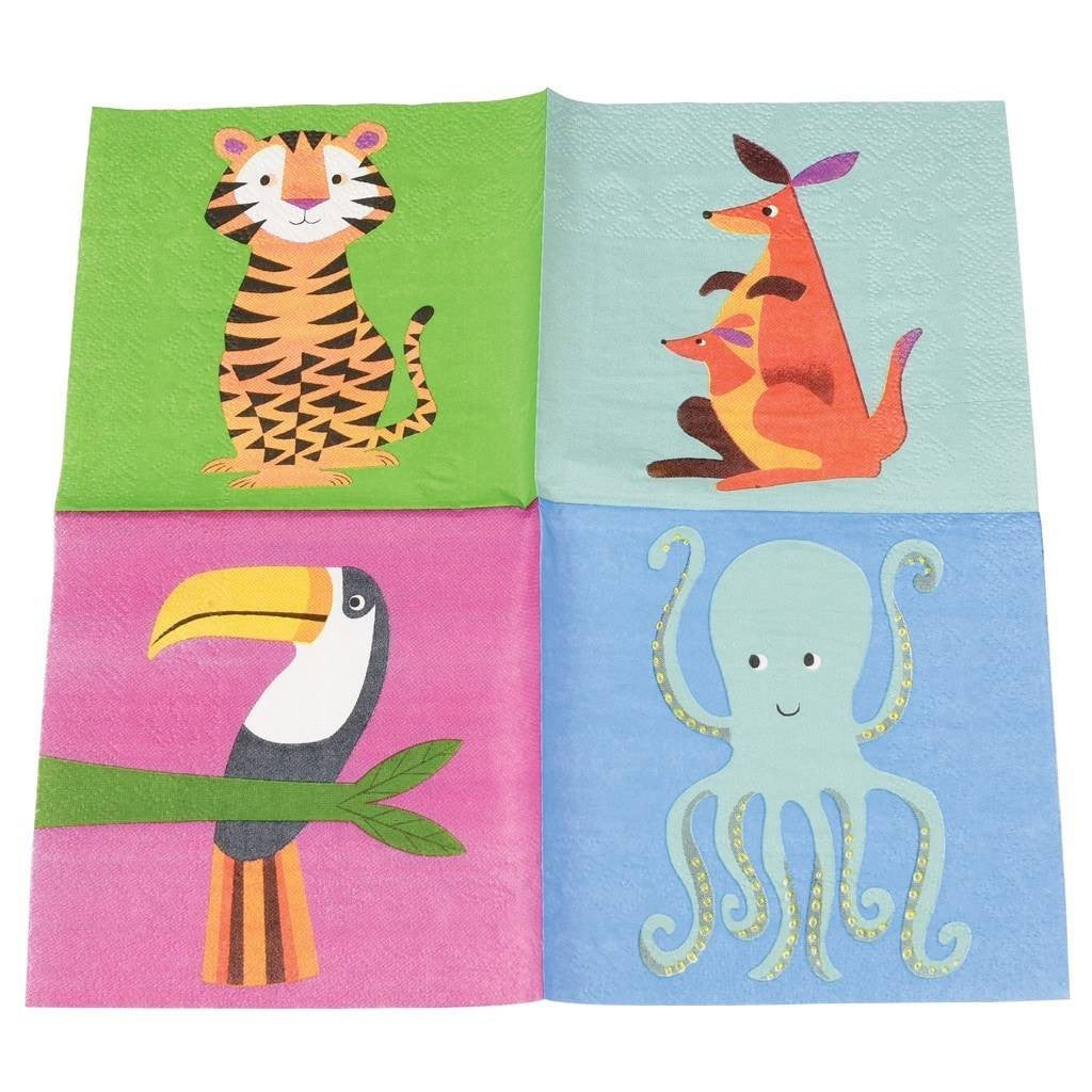 Wilde Tiere Party Serviette