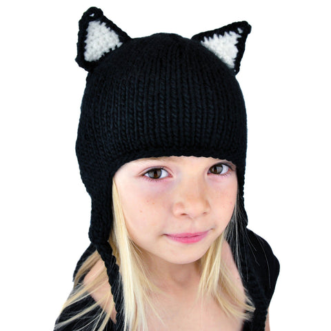 Cat Beanie with Tail