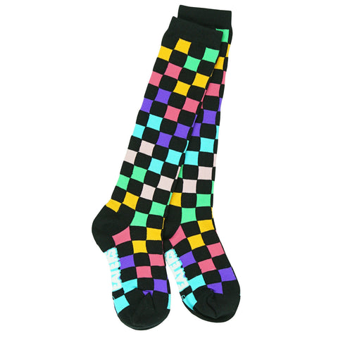 Knee High Socks - Chex - Black