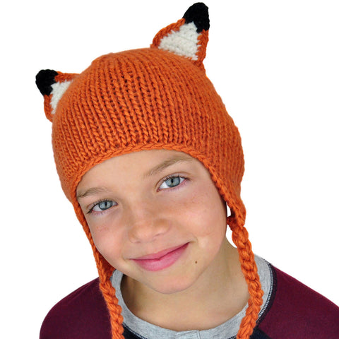 Fox Beanie with Tail