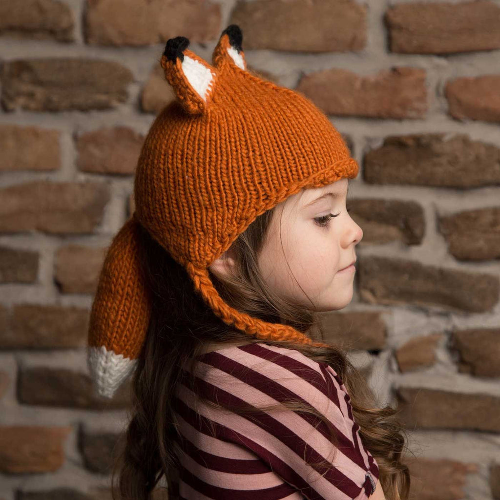 98fe3c42c2825 Fox Beanie with Ears   Tail