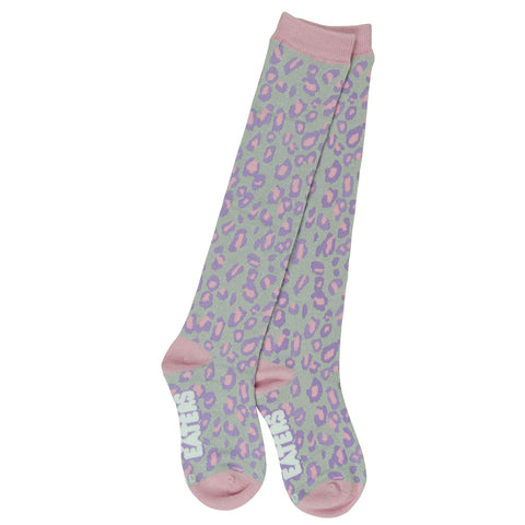 Knee High Socks - Leopard Gray