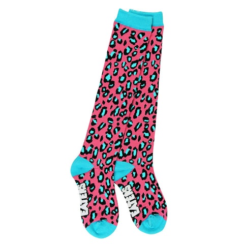 Knee High Socks - Leopard Pink