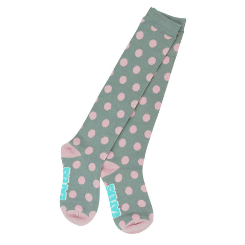 Knee High Socks - Polka Dots Gray