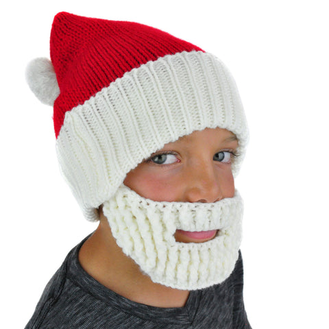 Santa Hat Beanie with Beard