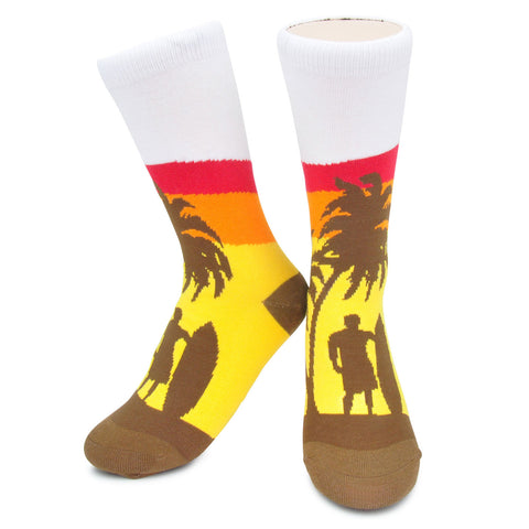 Crew Socks - Surf Sunset