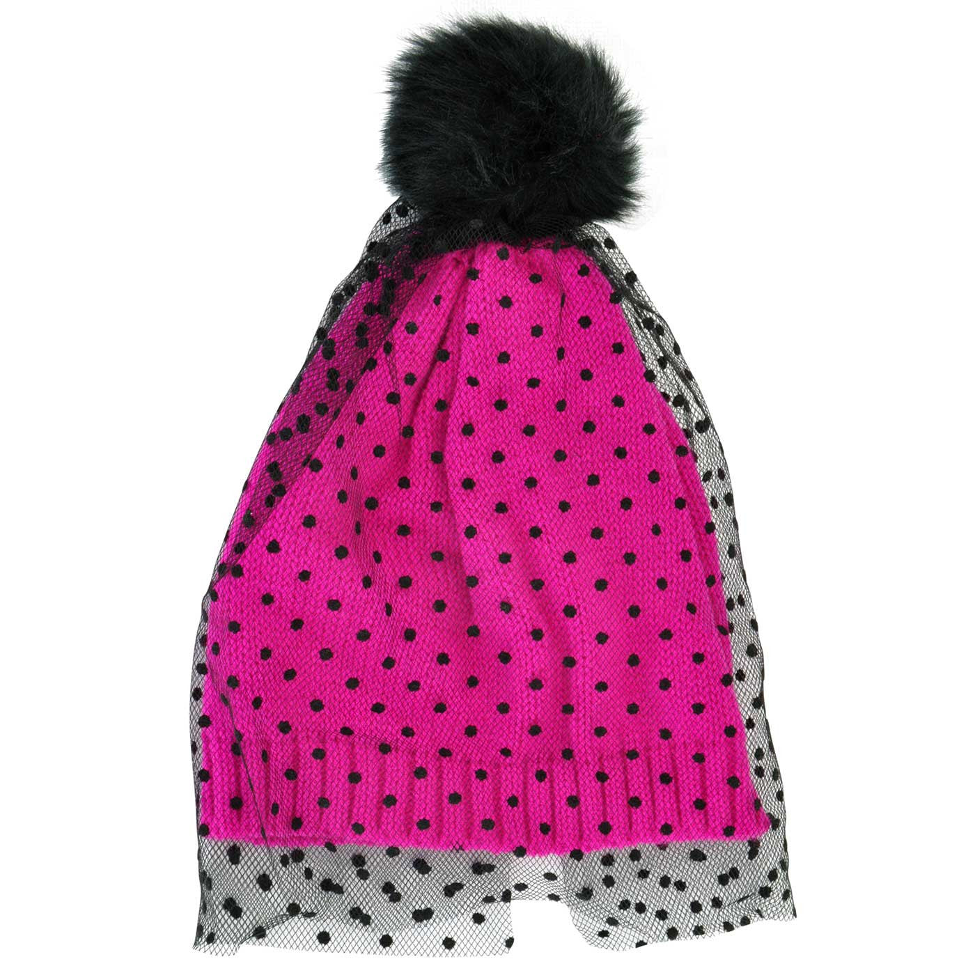 stable quality lace up in lower price with Veil Beanie - Pink