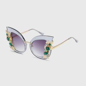 Emerald Flower Sunglasses