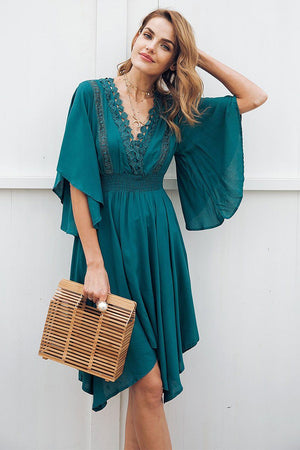 Lacy Lace Midi Dress