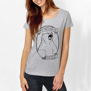 Don't Tell Me to Smile Bear Tee