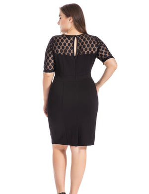 Brita Plus Size Bodycon Dress