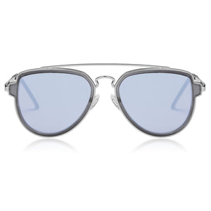Fashion Aviator Sunglasses Polarized Mirrored Lens Double Bridge SJ1051