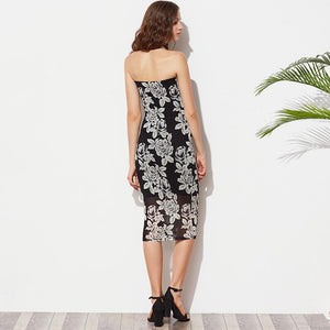 Summer Black Midi Dress