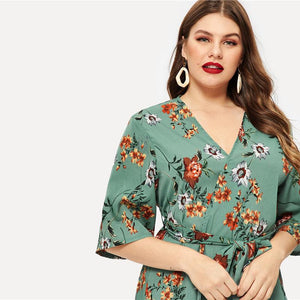 Idana Plus Size Midi Dress