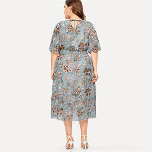Raily Plus Size Midi Dress