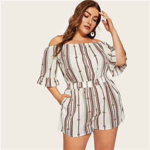 Plicia Plus Size Playsuit