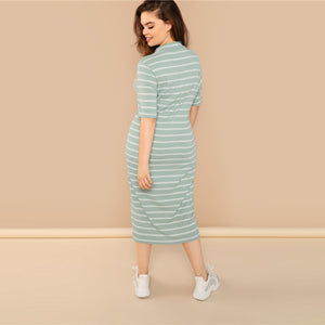 Khalen Plus Size Midi Dress