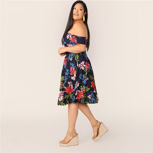 Loleya Plus Size Midi Dress