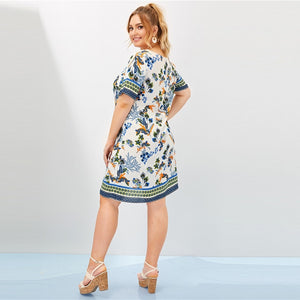 Yelly Plus Size Midi Dress