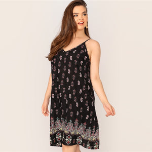 Horice Plus Size Midi Dress