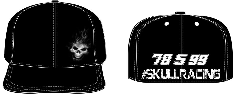BJ McLeod Motorsports SkullRacing flex fit hat