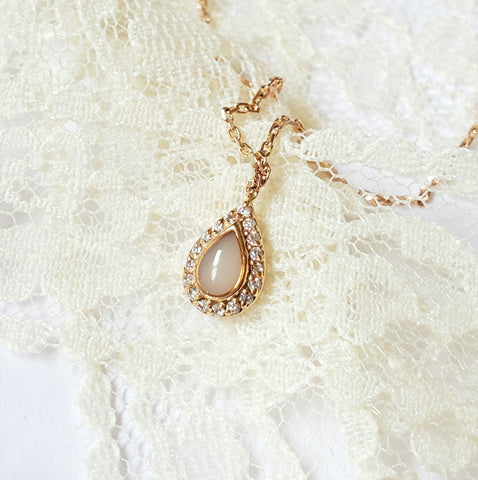 Milk Drop, Solid Gold Breastmilk Necklace