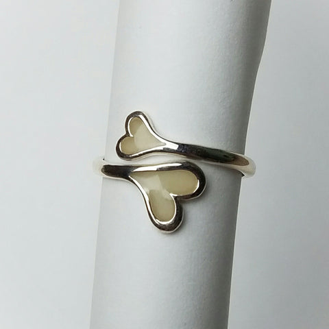 Two hearts Breastmilk ring