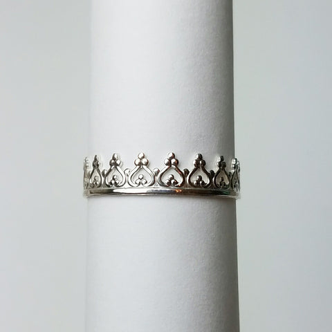 Sterling silver crown ring (addition to Breastmilk ring)