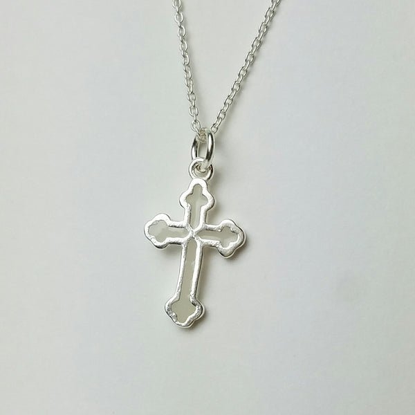 Petite Cross, Breastmilk Jewelry  Jobri Milk Charms-9168