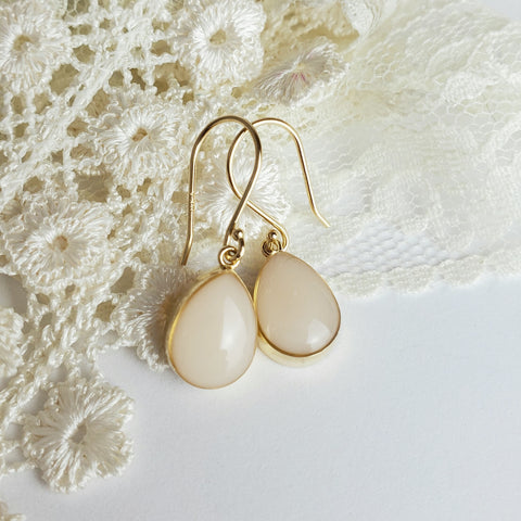 Precious Drop Solid 14kt Gold Earrings