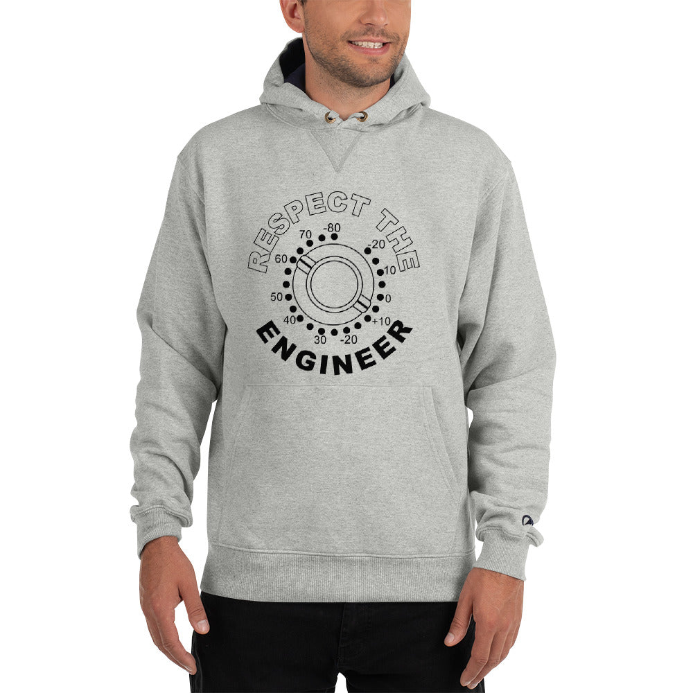 Break It Down - Break It Down Hoodie - Drum Kit Respect The Engineer Champion Hoodie (Gray) - Dreamchasers
