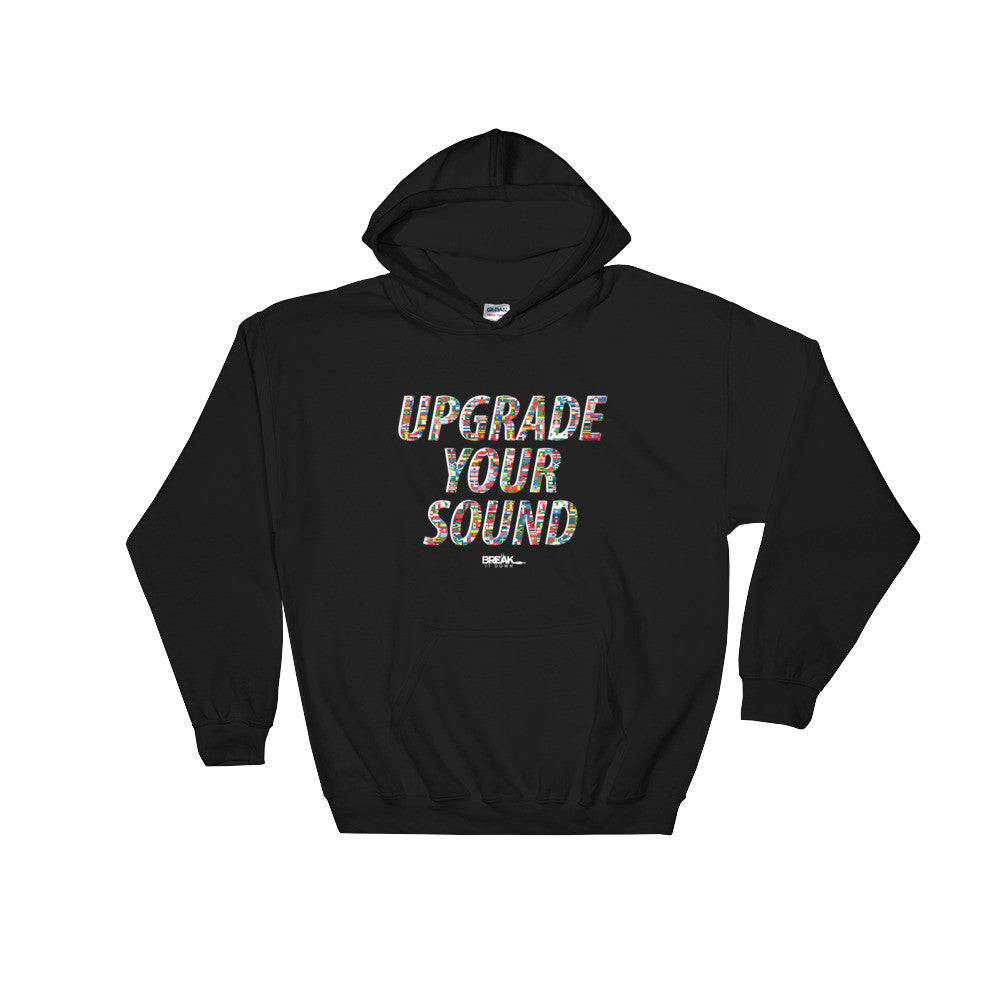 Break It Down - Break It Down Hoodie - Drum Kit Upgrade Your Sound International Hoodie (black) - Dreamchasers