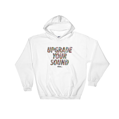 Upgrade Your Sound International Hoodie (white)