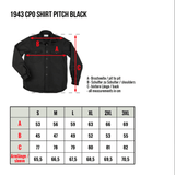1943 CPO Denim Shirt - Pitch Black