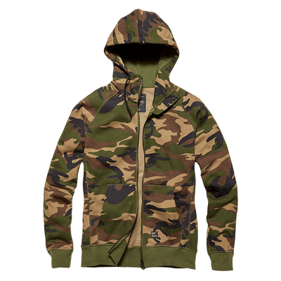 Basing Hooded Zip - Woodland camo - L'Atelier