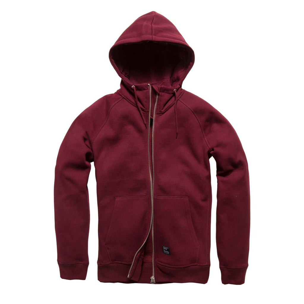 Basing Hooded Zip - Deep Red