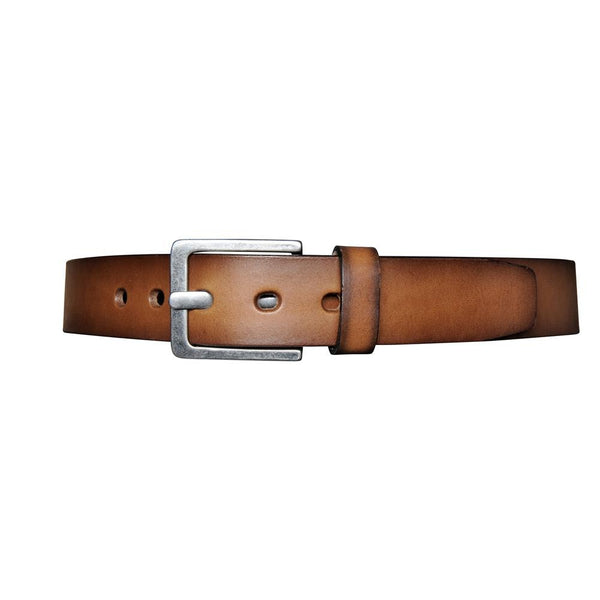 Open Edge Leather Belt - Cognac