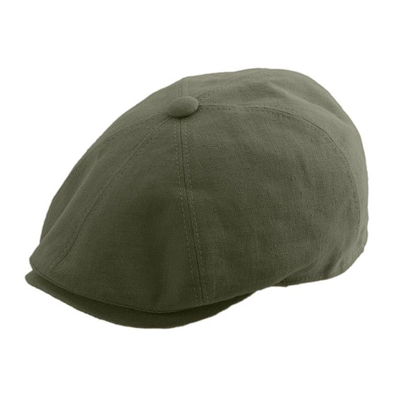 Gatsby Cap Linen - Brown