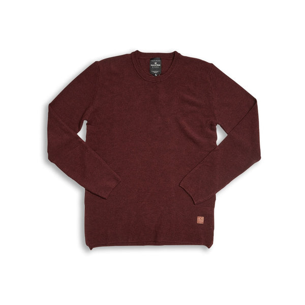 Tondo Merino Pullover - Wine Red