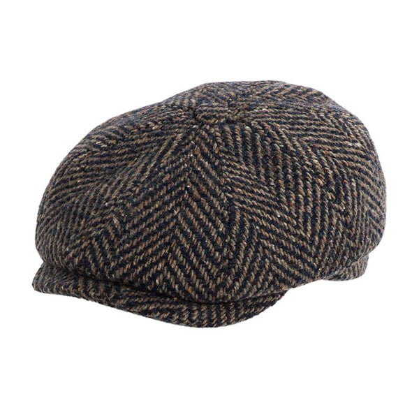 Gatsby Cap Wool - Brown Pattern