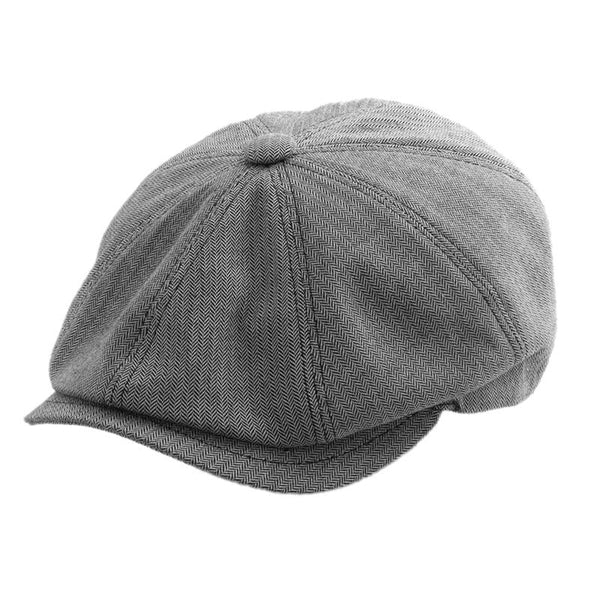 Gatsby Cap Cotton - Grey/Black