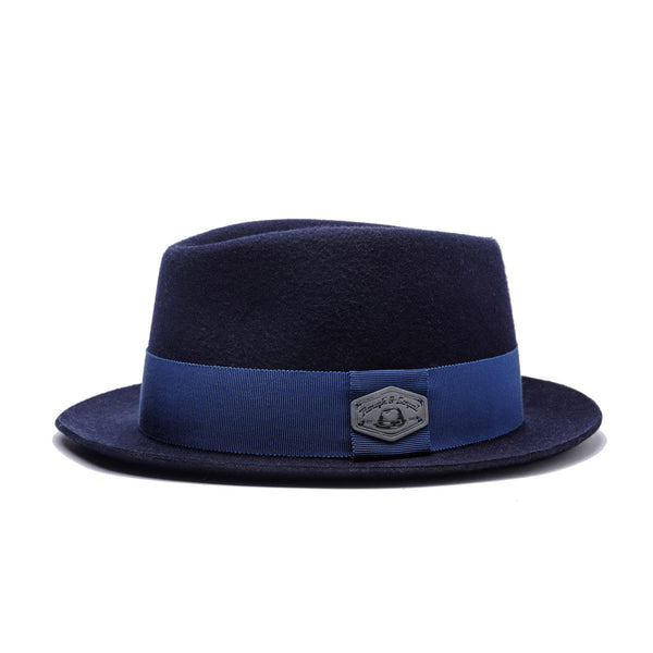 Lord Godfrey Wool Trilby - Blue