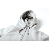 S18 Hooded Zip - Heather Grey