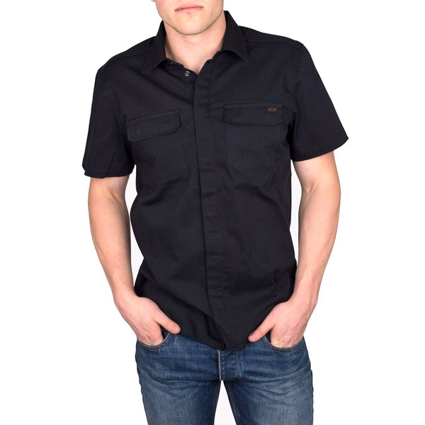 SH02S Twill Work Shirt - Black