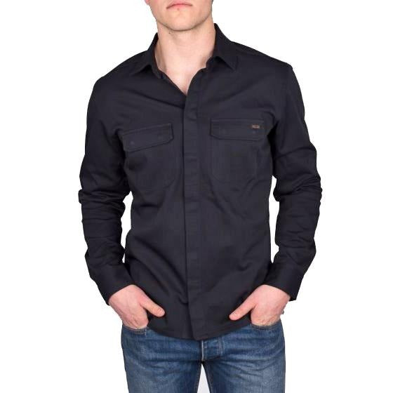 SH02 Twill Work Shirt - Black
