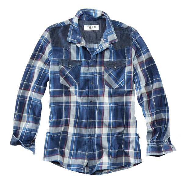 Western Shirt - Red/Blue/Yellow Check