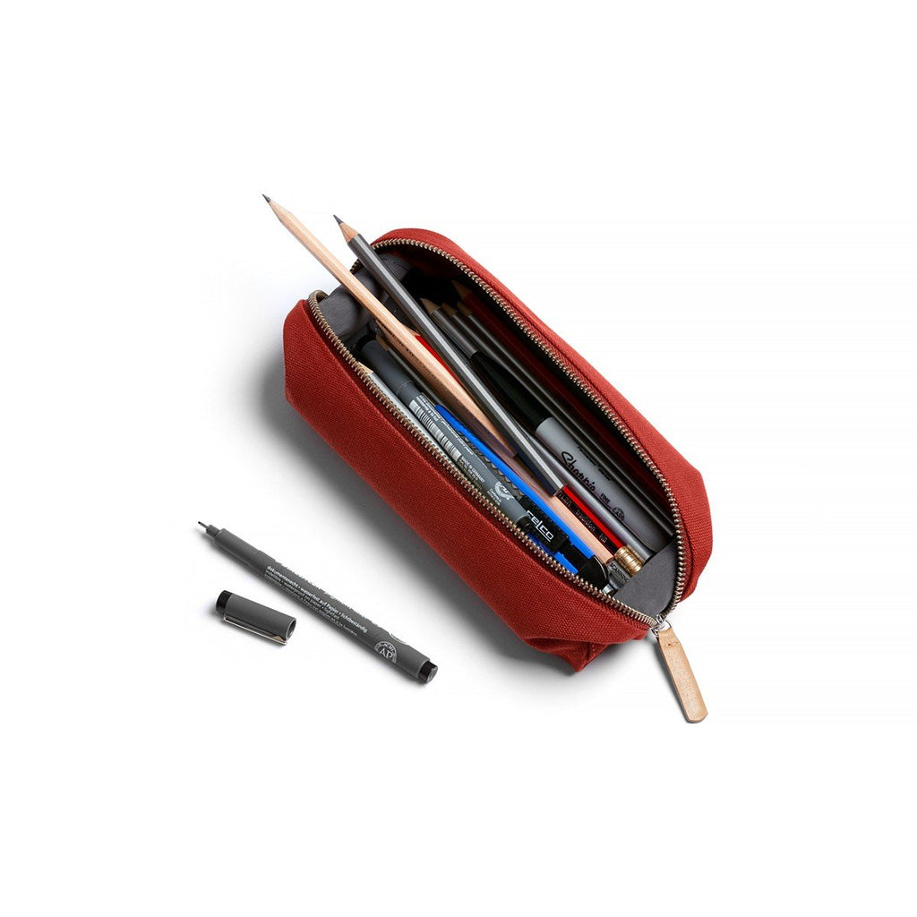Pencil Case Plus - Red Ochre